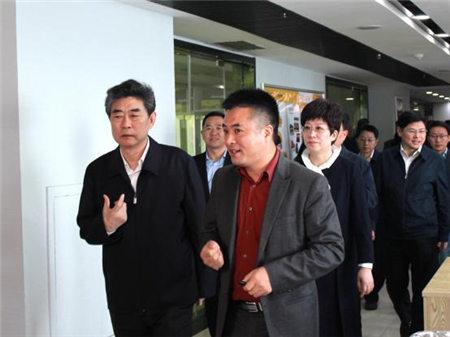 安徽省委常委、常务副省长邓向阳、合肥市长凌云考察天地精华